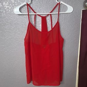 Red Strappy Shirt